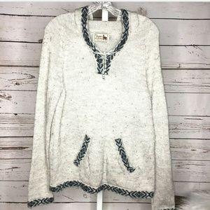 Alpaca Connection hooded Alpaca wool sweater M